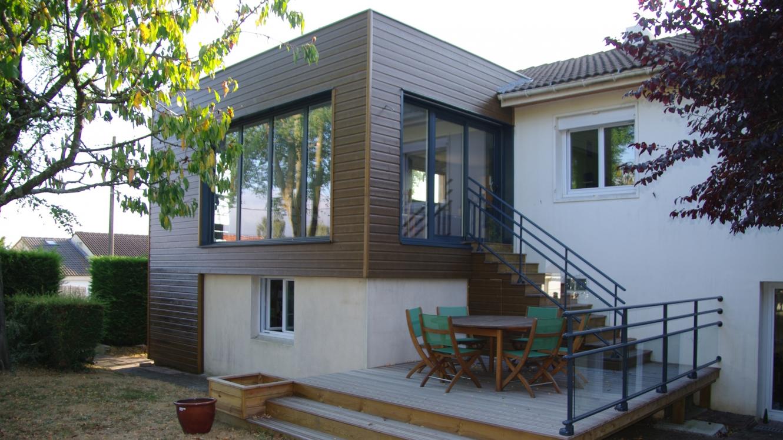 N lumbia architecture extension et terrasse architecte sur nantes - Combien de brique pour une maison ...